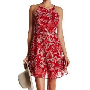Cara Floral Mini Trapeze Dress